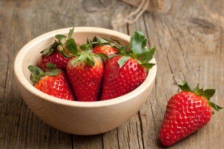 Strawberry facial mask
